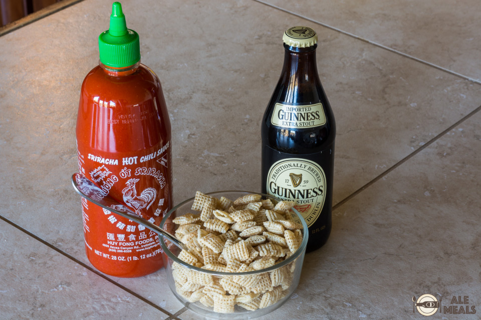 Sriracha Guinness Chex Mix