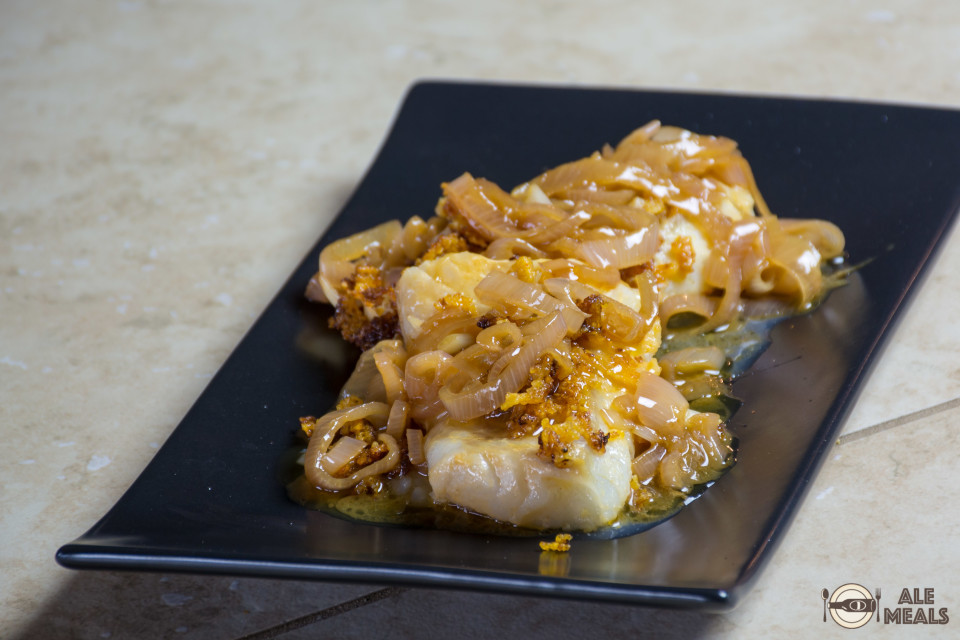 Cod Fillets with Browned Butter-Ale Sauce - ready to eat
