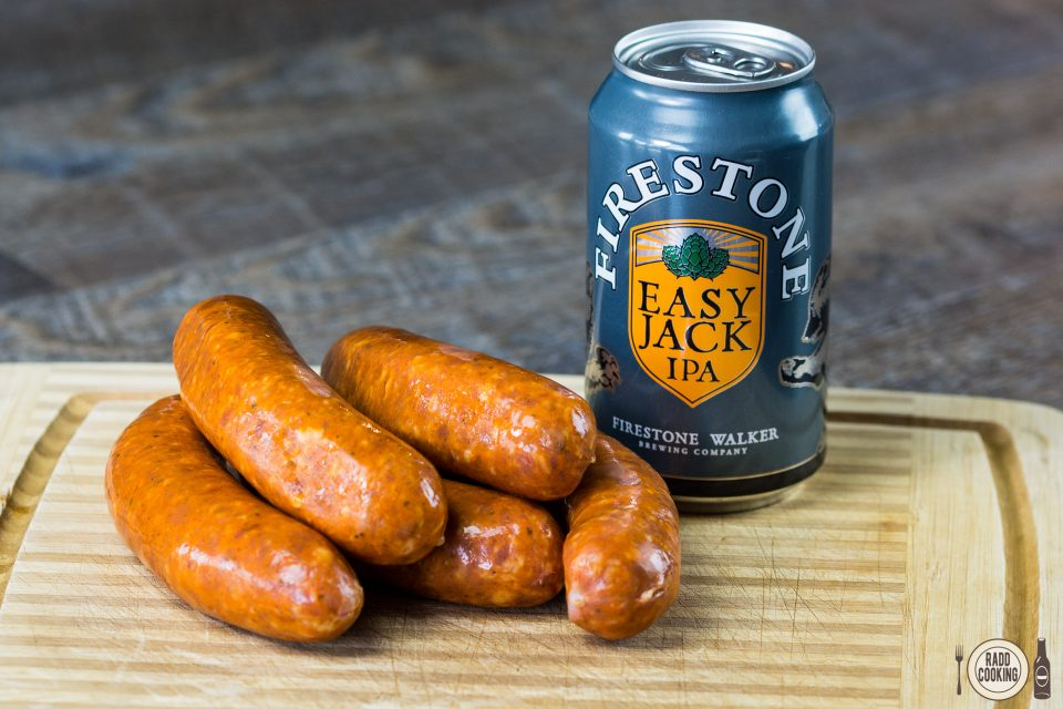 Firestone Walker Easy Jack IPA and andouille sausage
