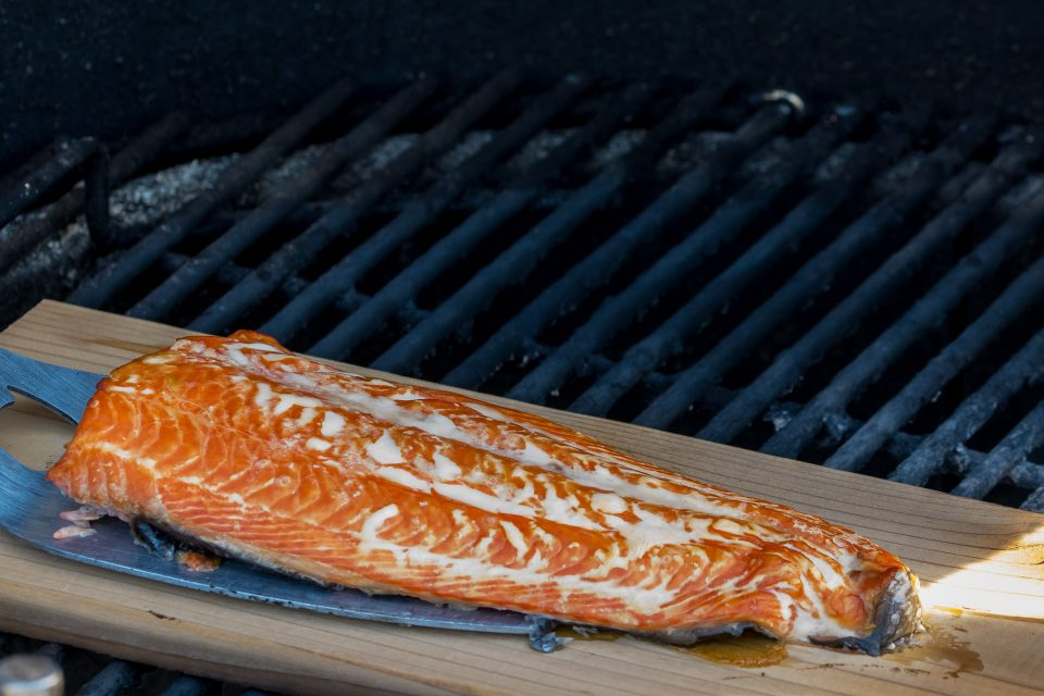 Copper River salmon all cedar smoked and delicious