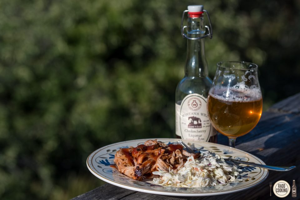 Chokecherry Liquor Pulled Pork