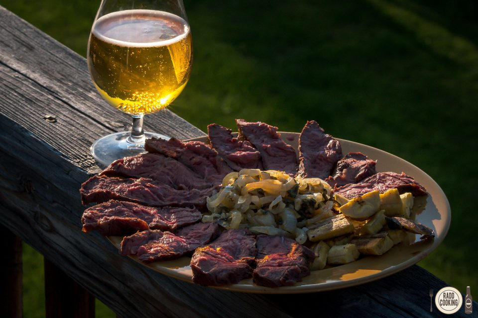 Badlands Mojo Grilled Steak served with Badlands Extra Pale Ale