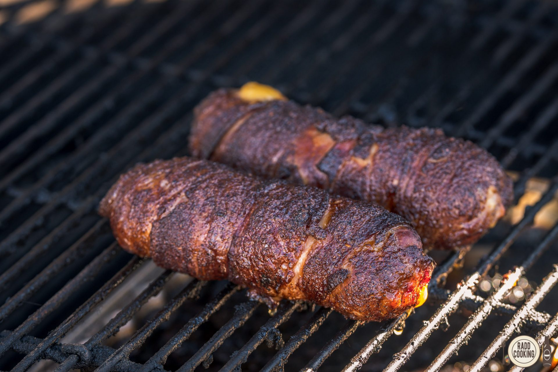 The Decleater: Bacon-wrapped Cheddar-stuffed Bratwurst