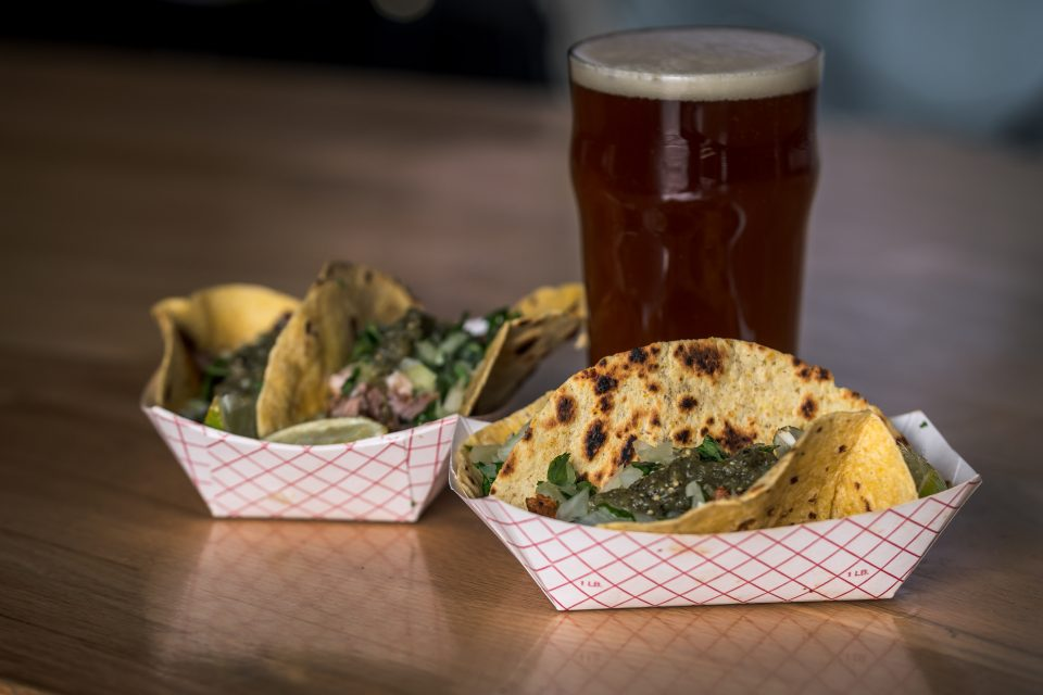 De La Calle Tacos with Hemptober Spliff from Kettlehouse Brewing